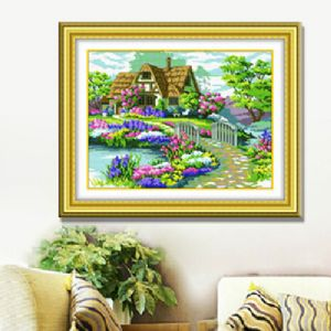 Cross stitch kit - Pre-printed patterns on cloth, 45cm x 33.5cm, [CSK035]